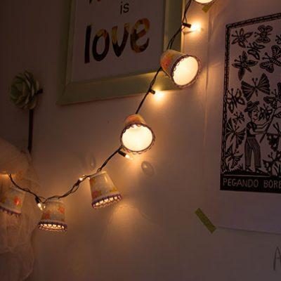 Lanternas charmosas de copinhos de café