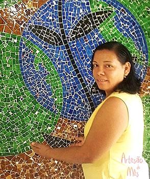 Celeste Santana a vencedora do Artesão do Mês