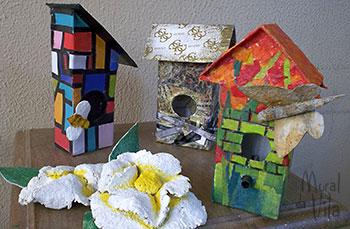 Casinhas de passarinho com reciclagem de tetrapack