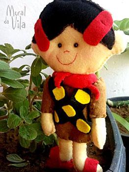 Maria Bonita, boneca em feltro