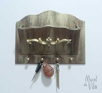 Porta-chaves pra ter tudo à mão