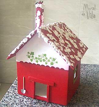 Casinha decorada para natal