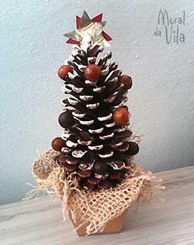 Árvore de natal em pinha