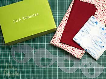 Material para decorar uma caixa