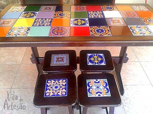 Como restaurar uma mesa de azulejos