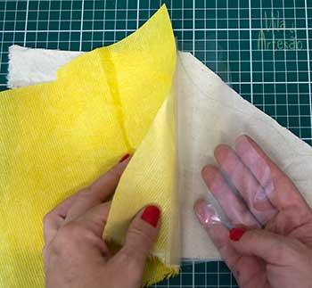 Reforce tecidos usados