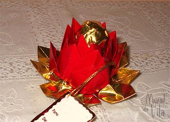 Origami para bombom de páscoa