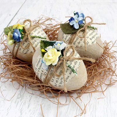Ovos de páscoa decorados para serem mimos para os amigos