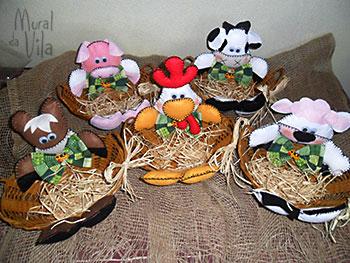 Cestos para guardar os ovos e decorar