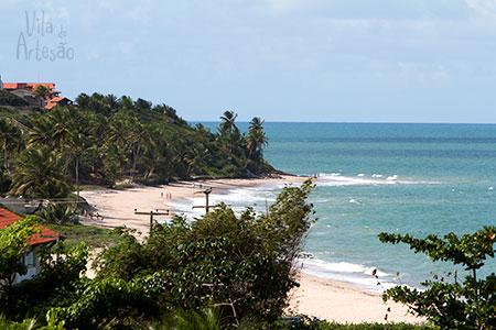 Praia de Tabatinga vista do restaurante Lampião da Pousada Maria Bonita