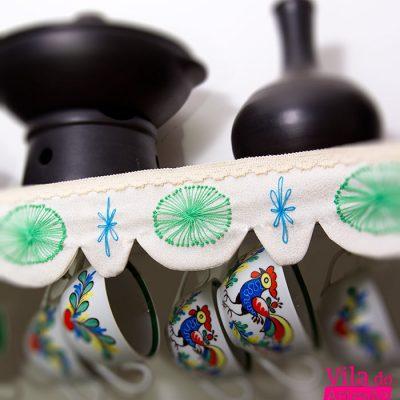 Barrado de tecido para prateleiras, como fazer