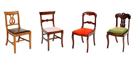 Cadeiras antigas modelos diferentes