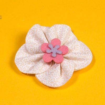 Como fazer flor de tecido com 5 pétalas