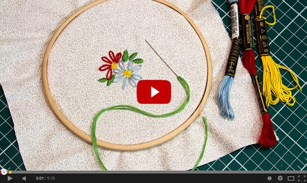 Clique para assistir ao vídeo da flor simples