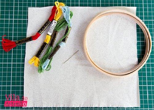 Material e como bordar