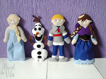Bonecos em feltro tema Frozen