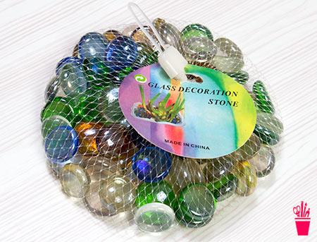 Pedras de vidro coloridas