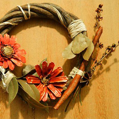 Material de artesanato fornecido pela natureza