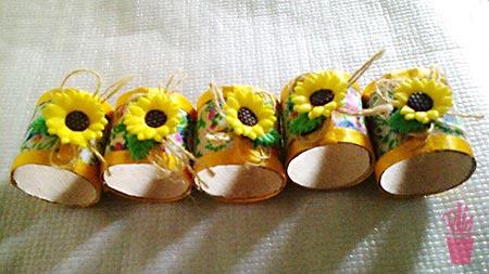 Porta-guardanapos em clima de festa