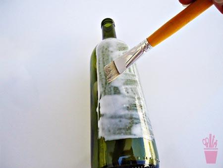 Aplique na garrafa