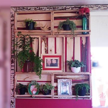 Misto de armário e jardim