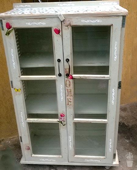 Persianas de janela que viraram um armário