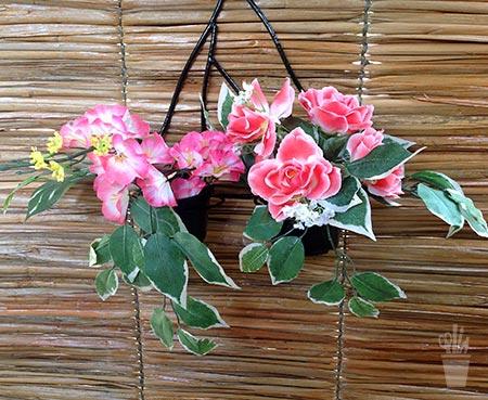 parede de jardim decorada com pipiri
