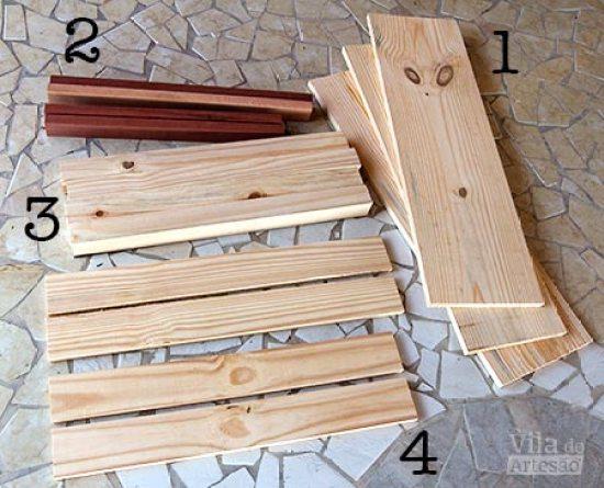 Mande cortar as madeiras para a mesa de madeira