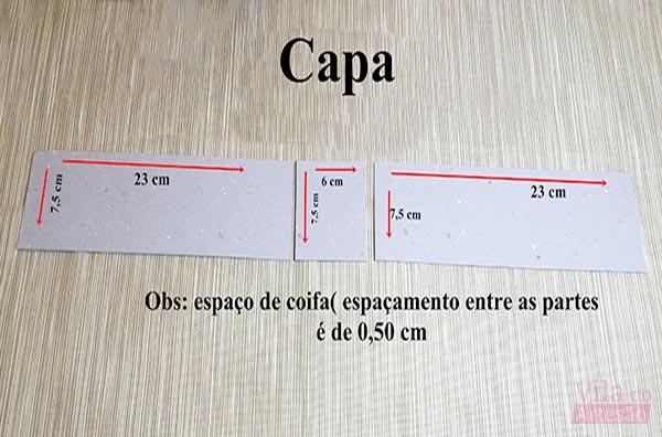 Medidas da capa