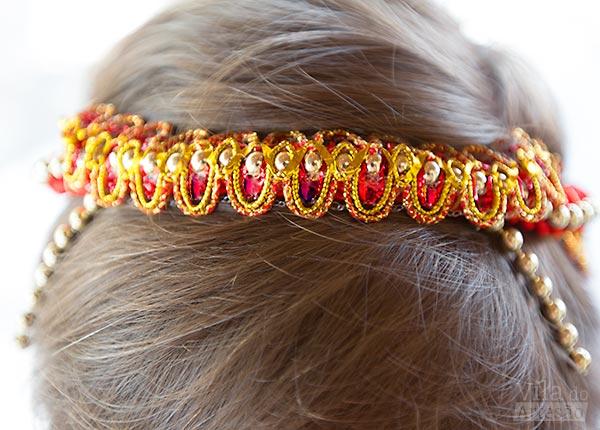 Headband na frente