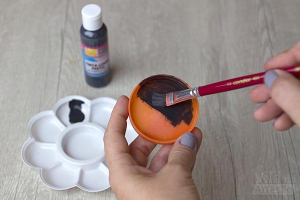 Pinte as demãos