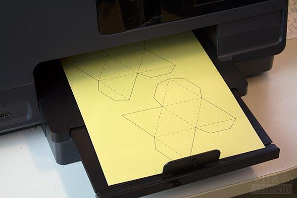 Imprima seu molde