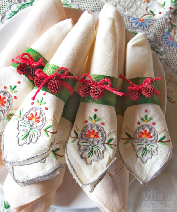 Porta-guardanapos de mini pinhas