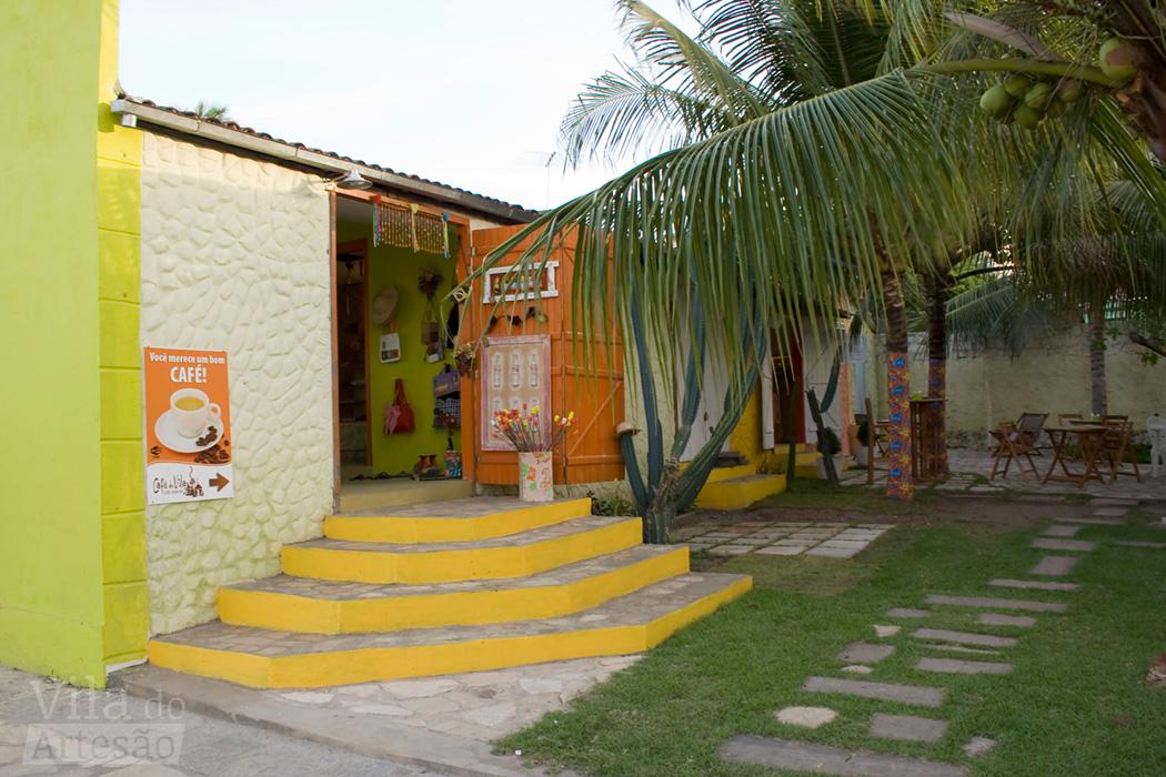 Essa era a fachada da Vila do Artesão em seu espaço no litoral sul - Jacumã/PB