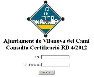 Imatge consulta factures web vilanovi