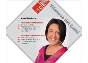 Noemi Trucharte presentacio llista 2015 cartell V02