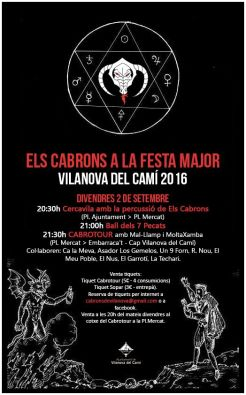 Cartel Els Cabrons a la festa major 2016l