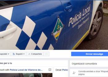 Policia local a Facebook captura