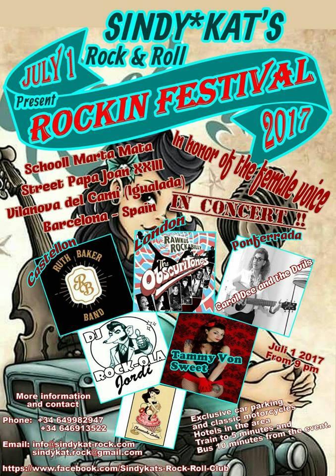 Rockin Festival 2017 cartell