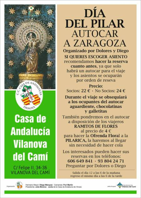 Casa Andalusia viatge Pilar cartell web