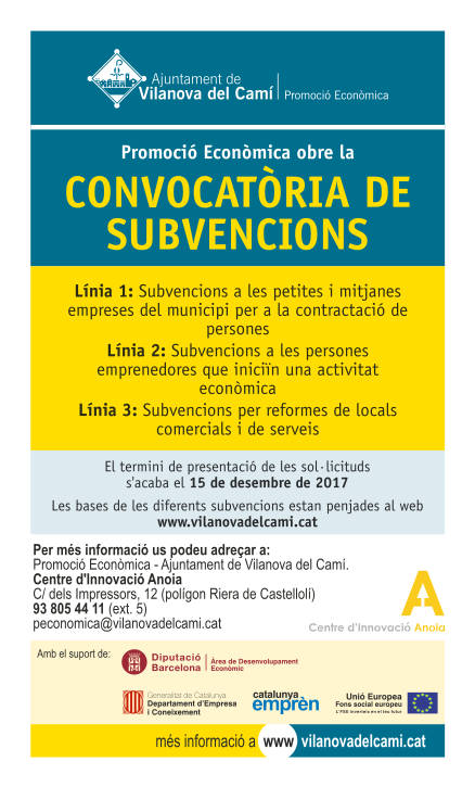 Convocatories de subvencions 2017
