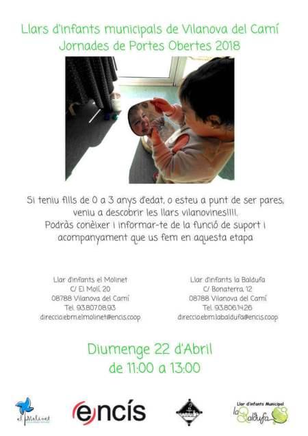 Poster Jornades de Portes Obertes 2018 verd-v11