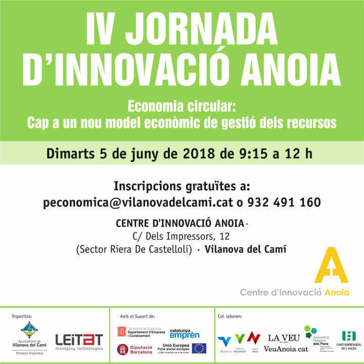 IV Jornada Innovacio Centre Innovacio Anoia