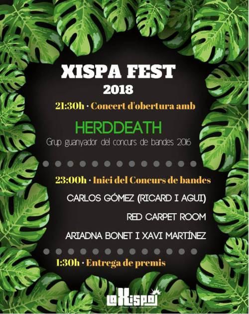 xispafest 2018 bandes-cartell-v11