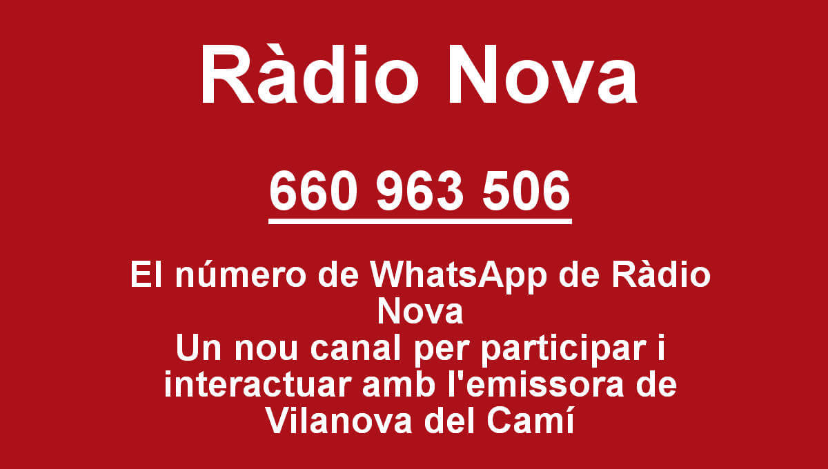 El número de WhatsApp de Ràdio Nova