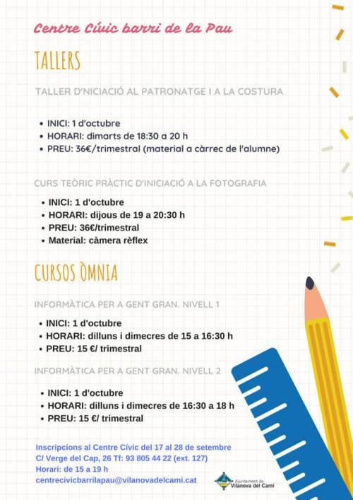 Cursos i tallers CCBP 18 -19-cartell-v11