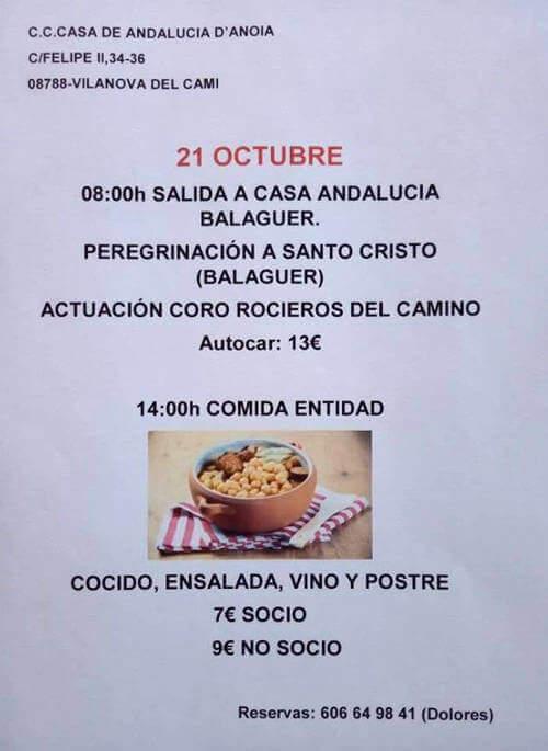 Casa Andalucia Viatge a Balaguer oct 18 cartell-v11
