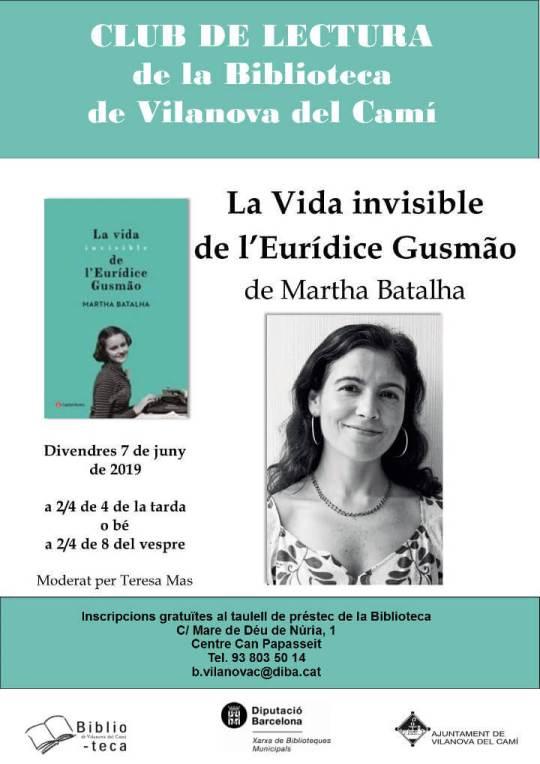 Club de lectura biblioteca Vida Invisible mai19