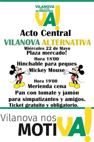 Vilanova Alternativa acte central 2019 cartell