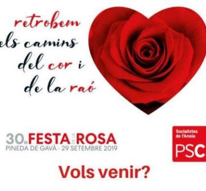 El PSC vilanoví participarà a la Festa de la Rosa que comptarà amb l'assistència de Pedro Sánchez i Miquel Iceta
